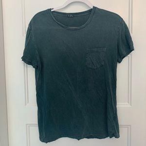Brandy Melville Distressed Green Tshirt